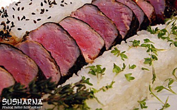 Susharna – vynikající japonské sushi za jedinečnou cenu. Poukaz v hodnotě 1000,- pouze za 450,-