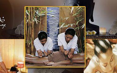 Prožijte fantastickou originální Thajskou masáž Mantra 4 rukou se slevou 56%! Aroma-terapie kombinovaná s uklidňující akupresurou Vám umožní 90 minut zažít zcela nevšední zážitek!
