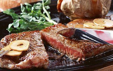 Pouhých 299 Kč za steakovou mísu o hmotnosti 600g pro dvě osoby podávanou se třemi druhy omáčky, přílohou zeleninou Ratatoille a rozpečenými bagetkami. Přijďte si užít romantický večer v luxusní restauraci s delikátním menu se slevou 62%!
