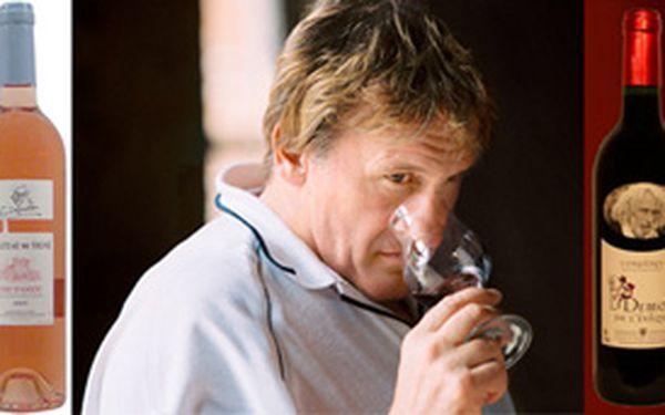 Chybí Vám nápad na vhodný vánoční dárek? Objednejte si dárkové balení vín z vinic Gérarda Depardiue a Pierra Richarda za 375,- Kč.