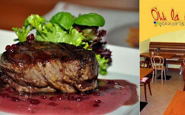 228 Kč za 2 porce bifteků z pravé svíčkové s přílohou dle vlastního výběru ? O´hh la la ! Je to tak ! Vše k dostání ve stylové restauraci O´hh la la. Udělejte radost partnerce dobrou večeří nebo vyražte s kamarády. Původní cena 570 Kč. Nyní se slevou 60%