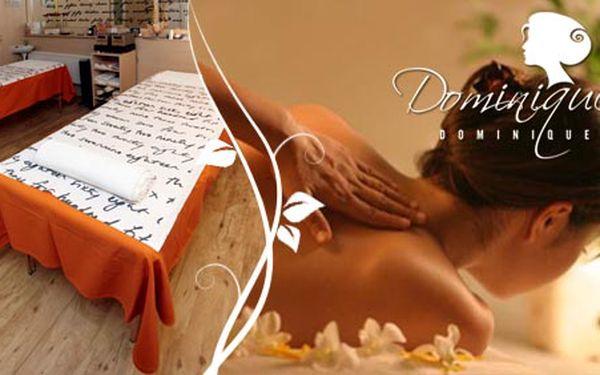 Uvolněte se a prospějte svému tělu díky klasické-relaxační masáži zad a šíje v salonu Dominique jen za 135 Kč. A odpočívejte i při placení díky slevě 50%.