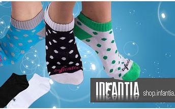 Skvělý dárek pro NI nebo pro NĚJ! Sada luxusních kotníčkových ponožek Infantia kolekce 2010/2011 za neuvěřitelnou cenu 255,- kč za 6 párů, včetně poštovného!