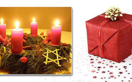 Vánoční věnec z voňavých větviček a stylových dekorací. Vhodný na Váš stůl nebo jako dekorace na vstupní dveře! Poštovné a balné ZDARMA! Darujte blízkým vhodnou dekoraci na Vánoce!