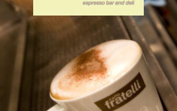 Káva dle výběru a jablečný štrúdl s vanilkovým krémem a horkým ovocem v designové kavárně Fratelli Caffé v centru Brna za 52 Kč!!!