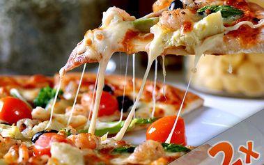 DVĚ lahodné pizzy podle vlastního výběru + 2 kávy espresso v pizzerii A3 Restaurant. Sestavte si 2 pizzy podle vlastních představ se slevou 50%!