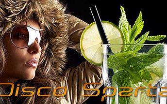 Vyraz večer za zábavou. Dejte si s přáteli Cuba Libre XL nebo Mojito XL (1 pro 3 osoby) a využijte 3 lístky do diskotékového baru Sparta jen za 120 Kč. Sleva 50%.