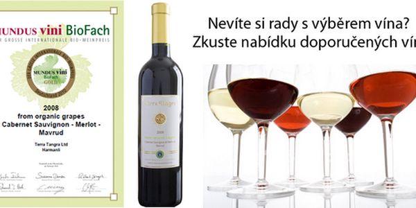 Exkluzivní víno - Cabernet Sauvignon & Merlot & Mavrud 2008 Terra Tangra s neopakovatelnou slevou 46%! Zlatá medaile z Mundus Vini BioFach 2010 je dokladem vysoké kvality tohoto famózního červeného vína. Uchvacující, plné tmavé víno s chutí i vůní zralých