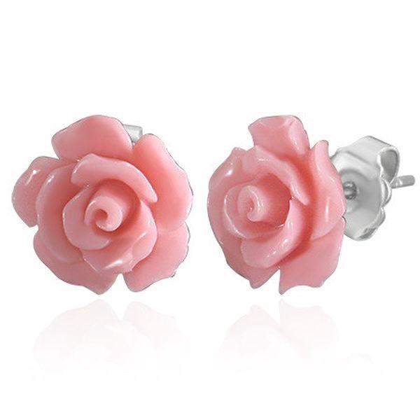 Velmi elegantní náušnice stylizované do růžové květiny za pouhých 249Kč včetně poštovného - Ozdobse.cz!