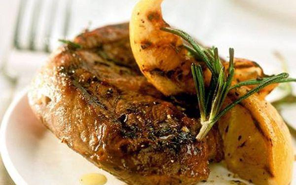 Jen 300 Kč za steaky i víno! Jídlo a pití v hodnotě 500 Kč v restaurace Třebovický mlýn! Zaplaťte pouhých 300 Kč a hodujte ve stylové restauraci