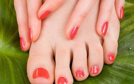 Zhýčkejte své ruce a chodidla s 50% slevou na manikůře nebo pedikůře