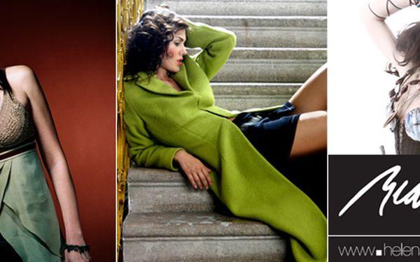 Pouze 199 Kč za nákup oblečení a kosmetiky v hodnotě 400 Kč. Kousek originality a jedinečnosti od známé módní návrhářky HELENY BEDRNOVÉ se slevou 50%.