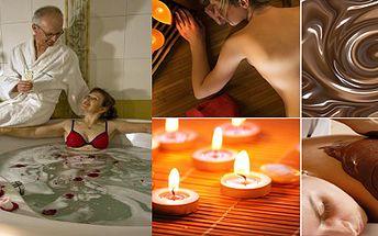 Myslete na Valentýna již o Vánocích - společná relaxační mléčná koupel s růžovými květy + čokoládový zábal pro 2 osoby, Bonus zdarma: 1x kvalitní sekt (0,7 l) pro strávení příjemné chvíle! To vše se slevou 51%!!!