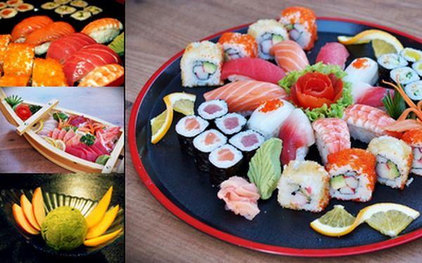 Sushi - kompletní menu pro milovníky a opravdové znalce asijské kuchyně! Vyhlášená restaurace Big Thai Oishi Vám přináší 51% slevu na unikátní sushi menu, té nejvyšší kvality! Navštivte klidné, nekuřácké prostředí autentické thajsko-japonské restaurace v