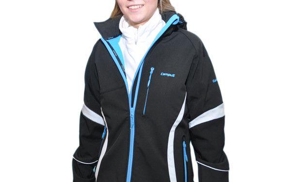 Dámská softshellová bunda CAMPUS - Larisa modro-černá