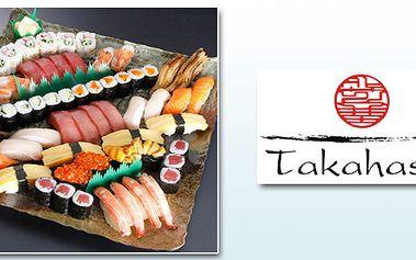 Přijďte na SUSHI TAKAHASHI SPECIÁL. Připravili jsme pro Vás speciální set SUSHI, celkem 39ks, 2x polévka, 2x salát, rýžové saké a kvalitní japonský čaj!
