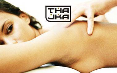 Se slevou 50% uvolněte své tělo a mysl při tradiční thajské masáži a využijte služeb beauty v salonech Thajka! Počet voucherů na osobu je neomezený!