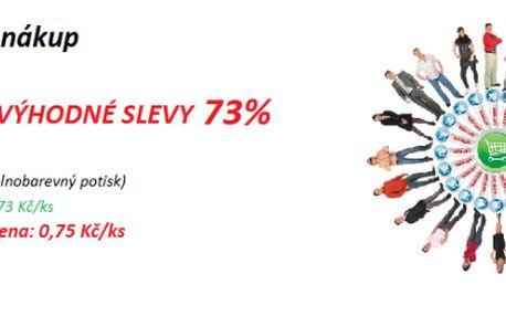 Hlavičkový papír se slevou 73 % - cena po slevě 0,75 Kč (obvyklá cena je 2,73 Kč bez DPH)