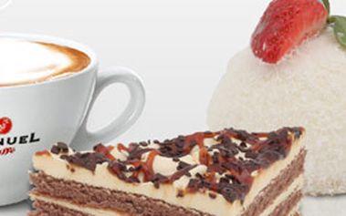 Káva presso Manuel a dva lahodné zákusky dle vlastního výběru za skvělých 51Kč!