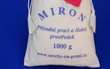 Perte úsporně, šetrně a bez chemie s ořechy na praní MIRON. Nyní se slevou 50% a neomezeným počtem voucherů na osobu!