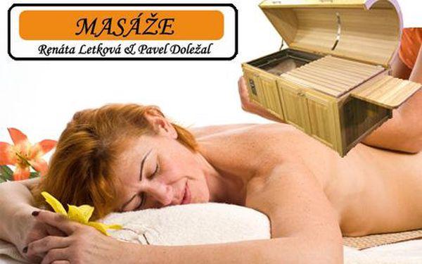 250 Kč za parní bylinnou lázeň k detoxikaci organismu a relaxační masáž zad a šíje s rehabilitačními prvky. Sleva 71%