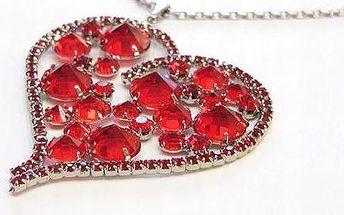VALENTÝN se blíží - pořiďte své milované polovičce, kamarádce, anebo i mamince krásné křišťálové srdce s řetízkem - jen 49 kuponů, tak ať to stihnete!