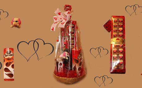 Luxusní dárkový koš plný čokoládové lásky.