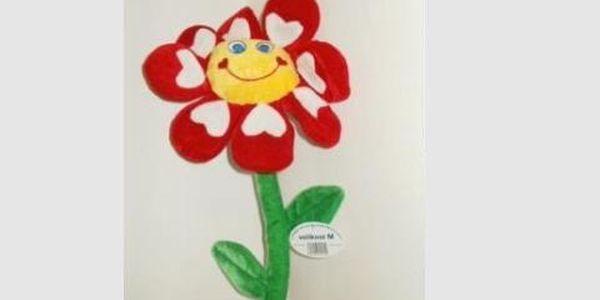 Jen119 korun za vtipnou Valentýnskou květinu a přívěšek s Tvým textem - Miluji Tě, krásný Valentýn...přívěšek svítí a bliká:-)