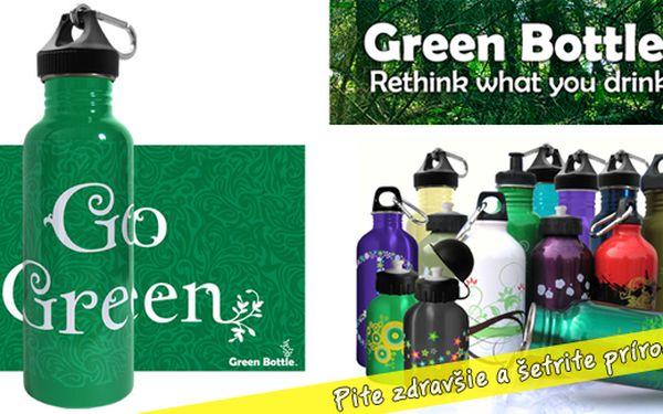 Green bottle - pite zdravšie a šetrite prírodu - teraz za bezkonkurenčnú cenu 9,66€ (vrátane poštovného)
