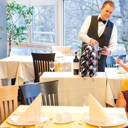 Romantická večeře pro dva s výhledem do zeleně zámeckého parku - 300 Kč za romantickou večeři 2 osoby v restauraci situované do tichého, klidnéha a okouzlujícího prostředí chráněného zámeckého parku. Sleva 45%