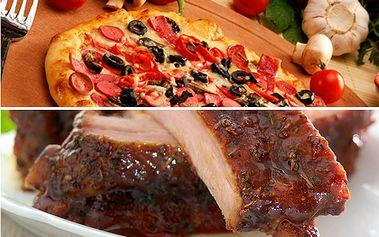 Za pouhých 20 Kč, získáte kupon na 51% slevu na všechny pizzy a 500g žebírek medových nebo pikant