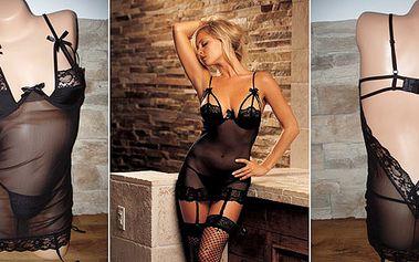 Jedinečná nabídka - kupte si černou sexy košilku s kalhotkami za poloviční cenu!