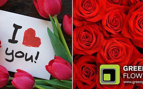 Zapomněli jste na Valentýna přijít s kyticí? Ještě není pozdě na nápravu! Pugét růží nebo tulipánů od nás vyrazí dech bez ohledu na datum.
