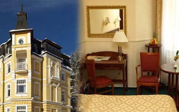Užijte si příjemné 3 dny v Mariánských lázních v luxusním Hotelu San Remo***/* obsahující bohaté snídaně, neomezené wellness, jahůdky a další dárky na pokoji jen pro Vás.