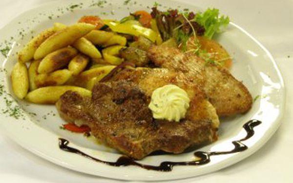 Menu o čtyřech chodech s neuvěřitelnou 48% slevou!!! Vyhlášená restaurace v centru Plzně Vám nabízí exkluzivní menu za pouhých 170,-Kč.