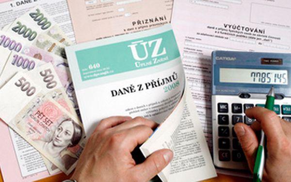 Jen 499 Kč za zpracování daňového přiznání pro rok 2010. Nevíte si rady s daňovým přiznáním nebo na něj nemáte čas? Máme pro Vás řešení. Nechte si jej zpracovat se slevou 50%!