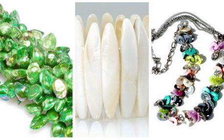 Udělejte si radost a kupte si ORIGINÁLNÍ ŠPERK s 67% SLEVOU! Získejte nádherný PERLEŤOVÝ NÁHRDELNÍK nebo NÁRAMEK za neskutečnou cenu 65 Kč! Vhodné také jako DÁREK pro Vaši přítelkyni či manželku! Šperky si můžete vyzvednout v Solné jeskyni ALAFIA.