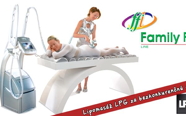 LPG masáž za bezkonkurenčnú cenu - prídte si do FamilyFitLine vyskúšať účinky populárnej lipomasáže - teraz len za 9,90 €