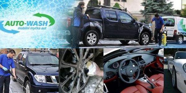 Kompletní údržba vozu po náročné zimě jen za 590 Kč místo 1180 Kč! Ruční mytí karosérie, čištění interiéru, renovace/konzervace laku, čištění litých kol a mnoho dalšího Vám provede AUTO-WASH přímo tam, kde zaparkujete svůj vůz. Mějte auto jako ze škatulky