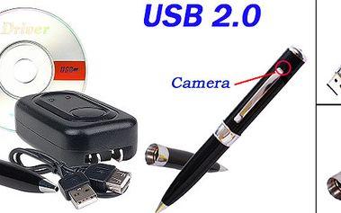 Spionážní pero se zabudovanou mikro kamerou. Skvělé zařízení pro spoustu zábavy které ale může pomoci tajně zachytit nepravosti, které na Vás druzí páchají. Neváhejte!