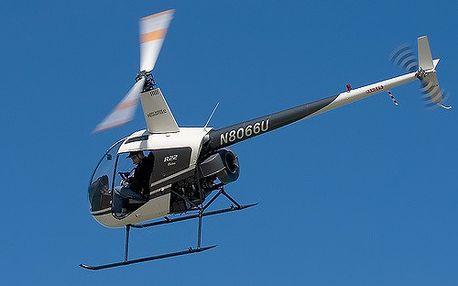 Chcete pilotovat ? Můžete hned ... let vrtulníkem Robinson R22 i s instruktáží.