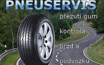 Kompletní výměna pneu, NEVÁHEJTE a využijte této akce, zajistěte si termín a využijte Bonusu, který je součástí. Přezutí, vyvážení, kontrola brzd, podvozku a kapalin.