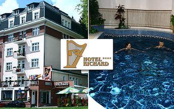 Týdenní relaxační pobyt v hotelu Richard****. Zakuste atmosféru lázeňského prostředí Mariánských lázní. Dopřejte si procházky, navštivte tělu prospěšné procedury...