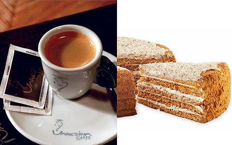 Nejlahodnější káva a nejoblíbenější pochoutka medovníček za bombastickou cenu!