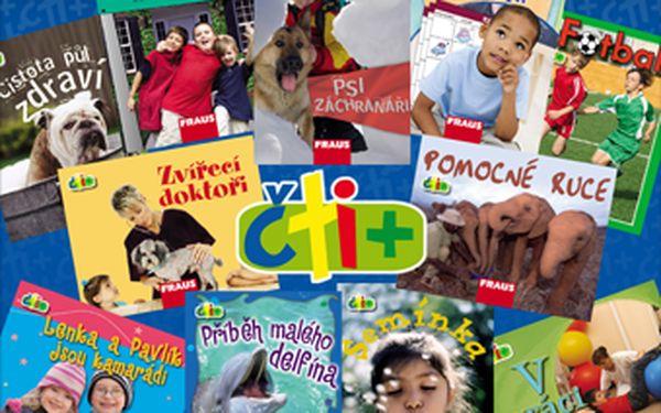 Nabídka 11 kusů unikátních knížek Čti+ pro děti ve věku 6-7 let za pouhých 249 Kč s 58% slevou.