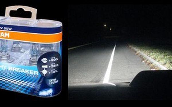 O 90% větší svítivost s autožárovkami osram. Jezděte ve tmě bezpečněji! O 35metrů delší svítivost! O 10% bělejší světlo které méně unavuje oči!