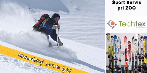 Kompletný servis lyží s kontrolou a nastavením bezpečnostného viazania so zľavou až 65% - teraz len za 14,90€