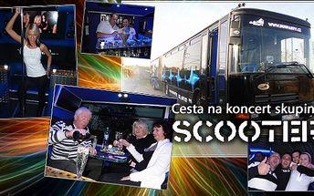 Vydejte se supernovinkou BusParty na koncert německé skupiny Scooter! Párty začíná už při nástupu do autobusu!