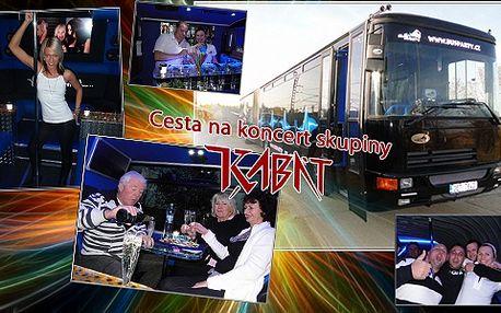 Vydejte se supernovinkou BusParty na koncert kapely Kabát! Párty začíná už při nástupu do autobusu!