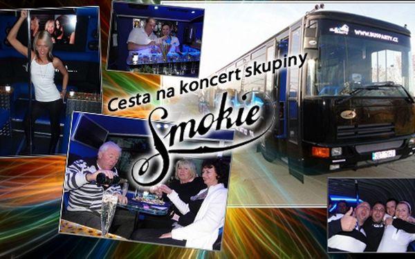 Vydejte se supernovinkou BusParty na koncert britské kapely Smokie! Párty začíná už při nástupu do autobusu!